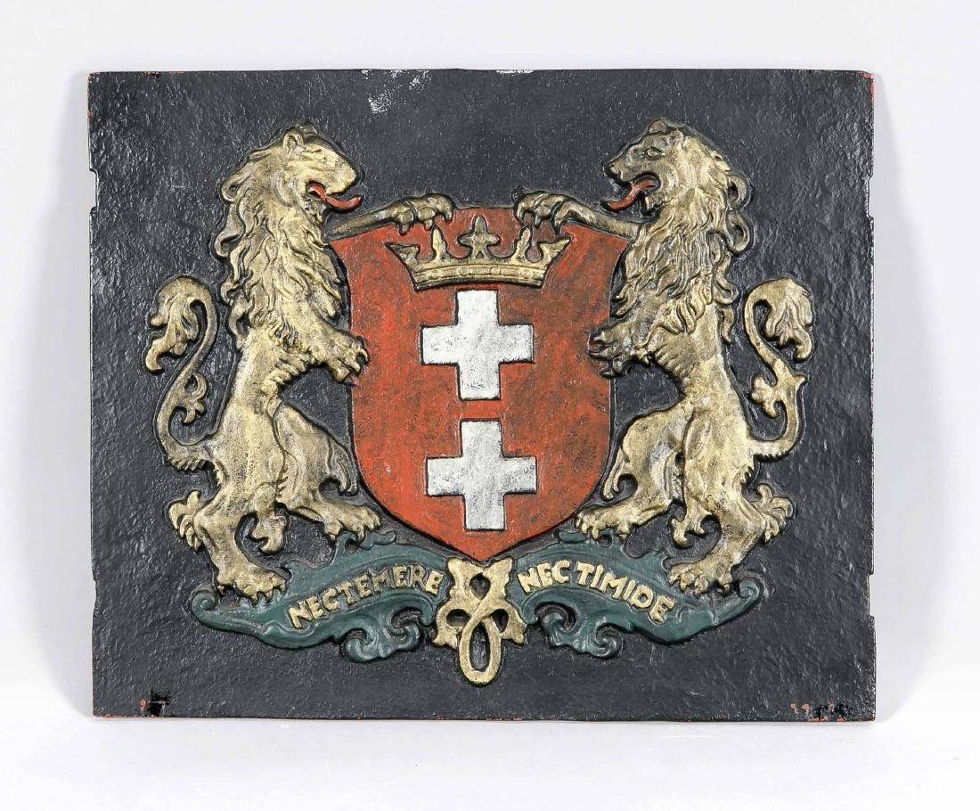 Danziger Ofenplatte, schwere Eisenplatte mit
