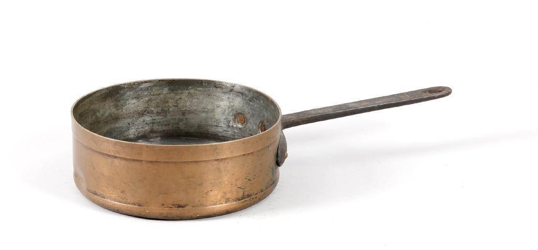 Kupferpfanne, 19. Jh., innen verzinntes Kupfer mit