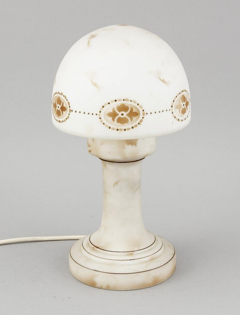 Tischlampe, 50er/60er Jahre, runder Fuß mit