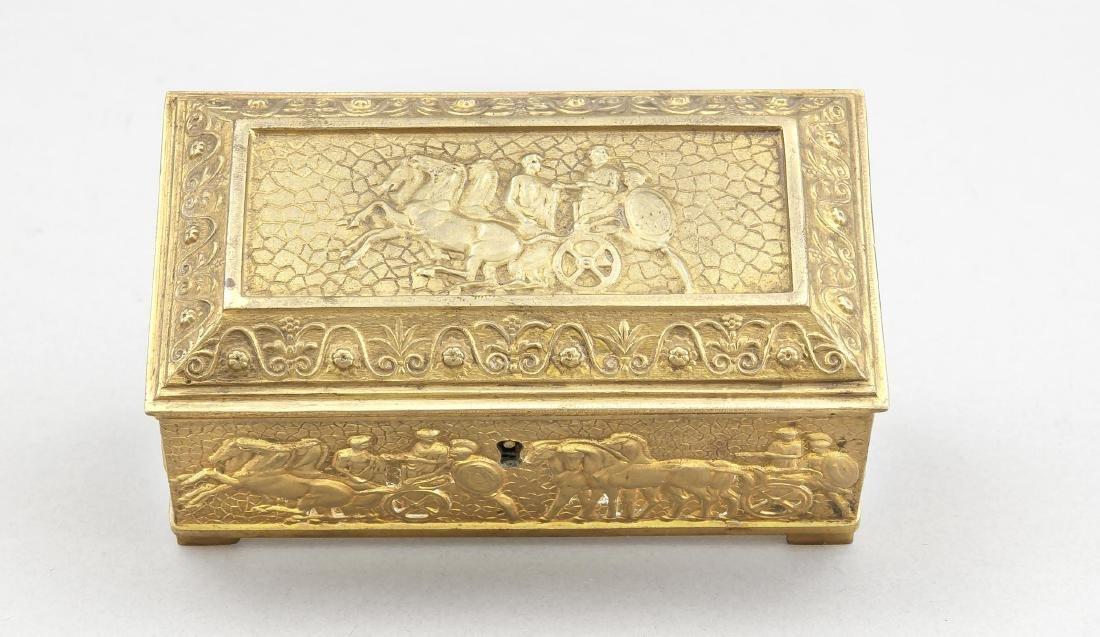 Vergoldete Bronzeschatulle, Deutschland?, 19. Jh.,