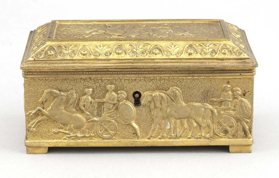 Vergoldete Bronzeschatulle, Deutschland?, 19. Jh., - 2