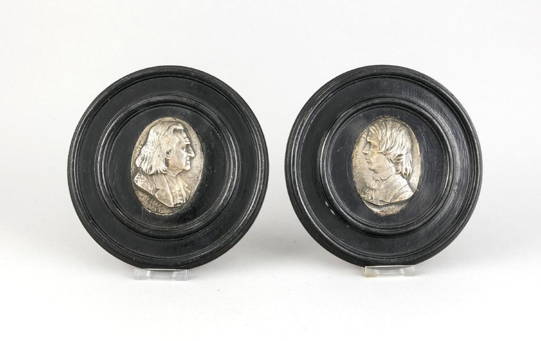 Paar Wandappliken, Deutschland, 19. Jh., ovale