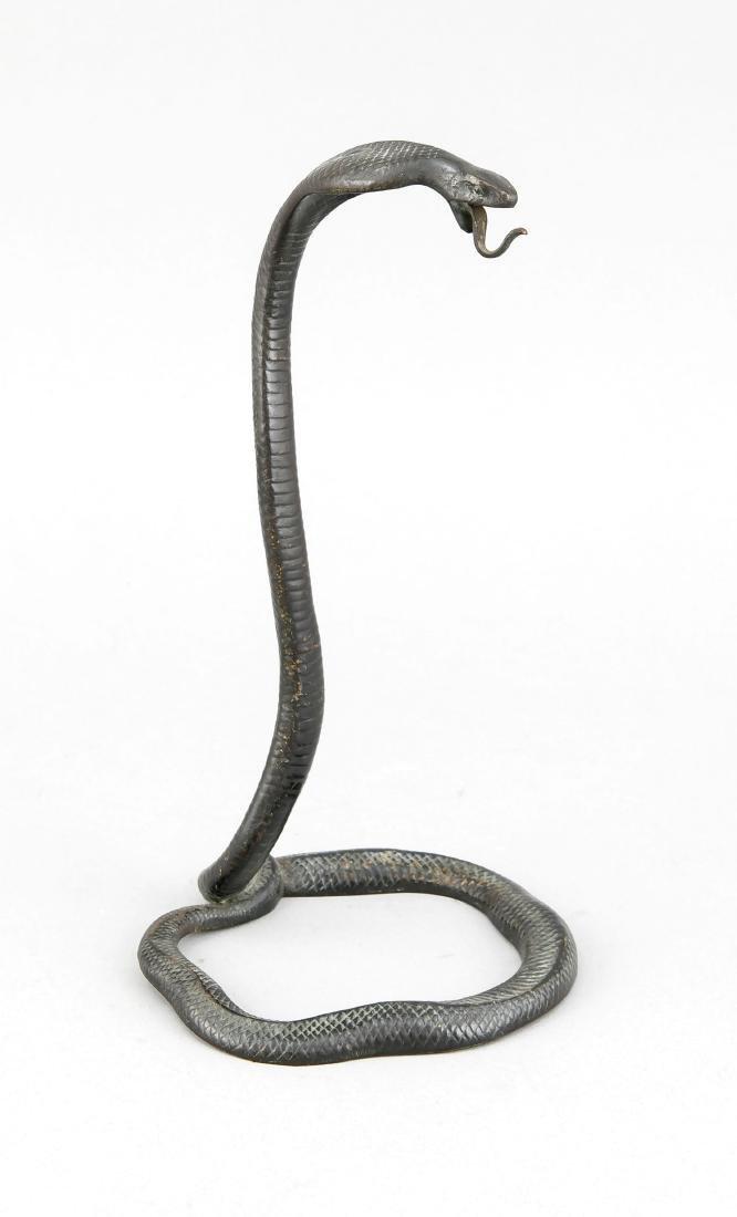 Taschenuhrenständer in Form einer Kobra, ? um 1900,