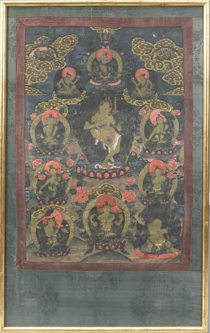 Tibetan Thangka, 1st half of the 20th century, dancing