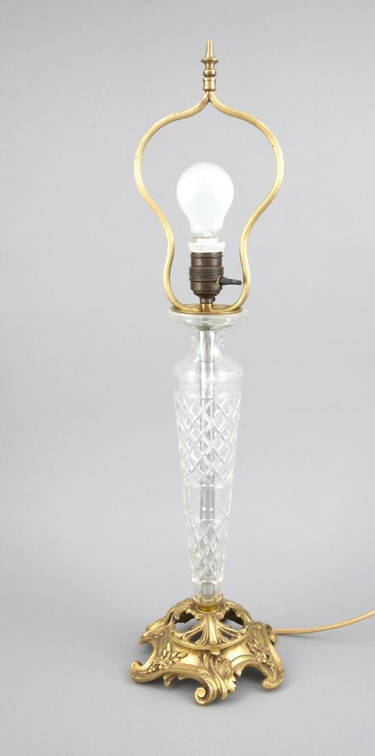 Tischlampe mit Kristallmontierung 1. H. 20. Jh.,