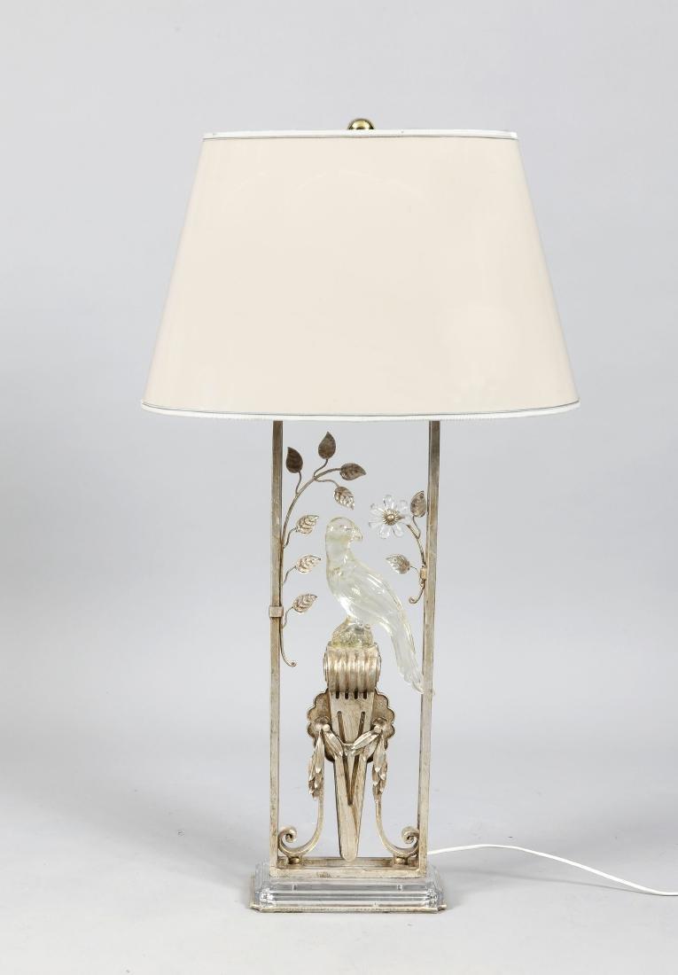 Dekorative Tischlampe 2. H. 20. Jh., elektr., 2-flg.,