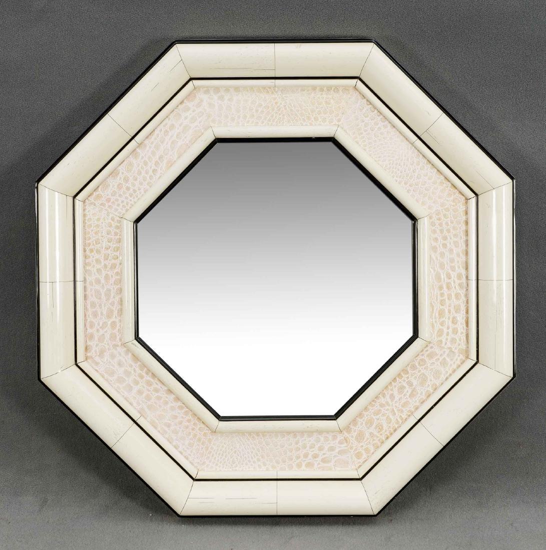 Oktogonaler Designer-Wandspiegel, 2. H. 20. Jh.,