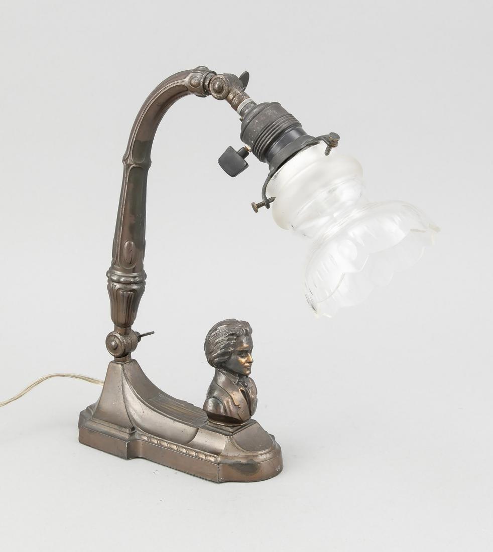 Art-Deco Lampe Beethoven, Deutschland?, Anfang 20. Jh.,