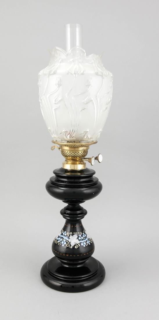 Öllampe, Frankreich?, 1. V. 20. Jh., schwarzer