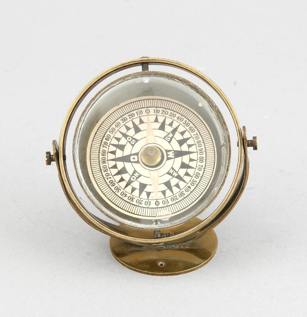Nautischer Kompass, Deutschland, um 1900, hinter Glas,