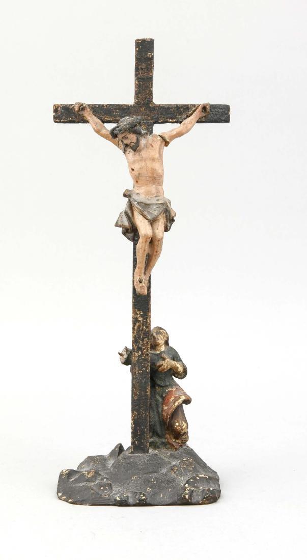 Kruzifix, Deutschland/Holland?, 19. Jh., Holz, farbig
