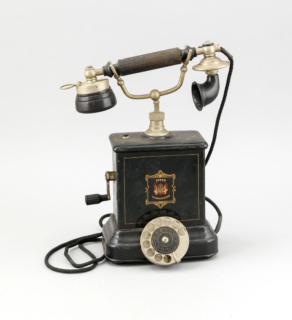 Altes Telefon, Dänemark/Schweden? um 1900, bez. Jydsk