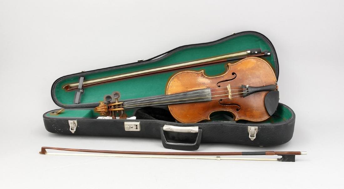 Geige, Italien, bez. Antonius Stradivarius Cremonensis