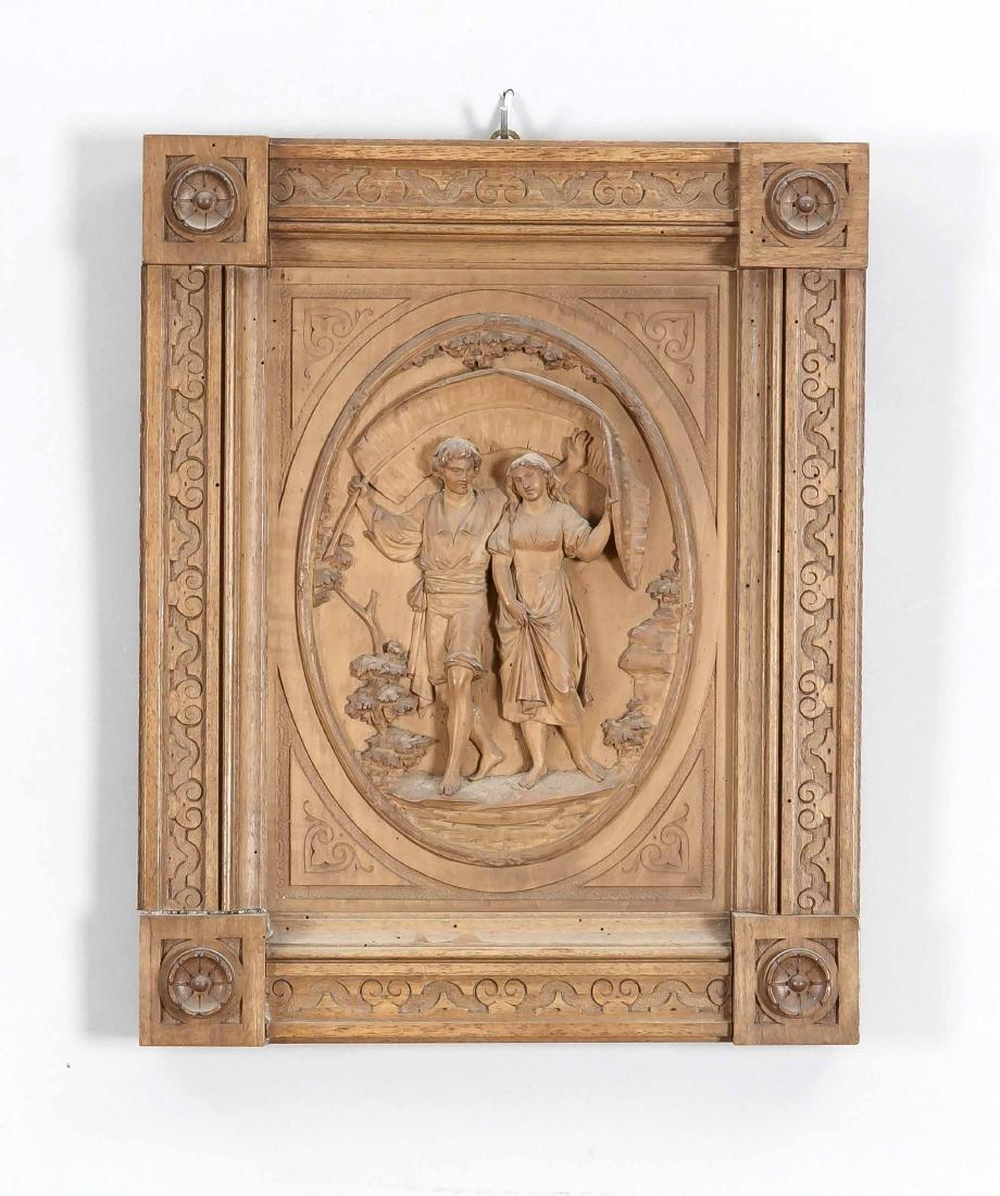 Anonymer Bildhauer Ende 19. Jh., junges Paar sucht