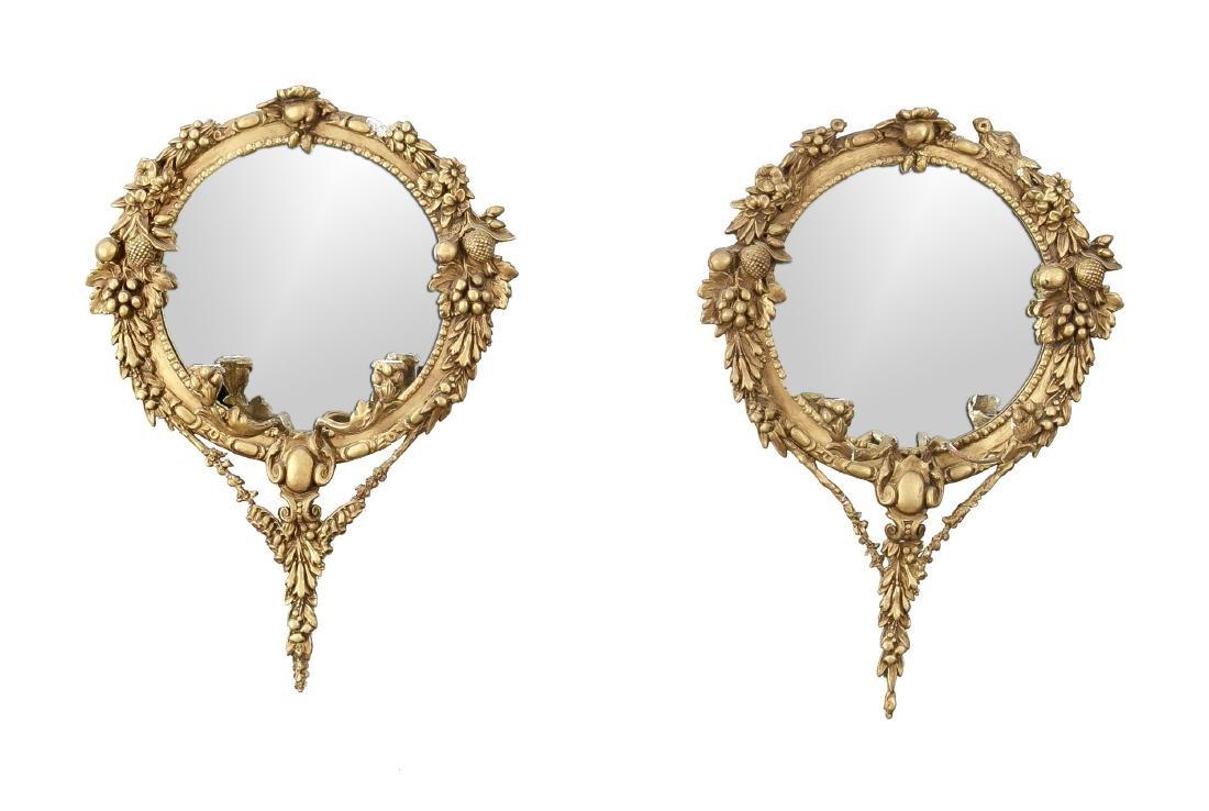 Zwei Spiegel, China 21. Jh., Masse über Draht, best.,