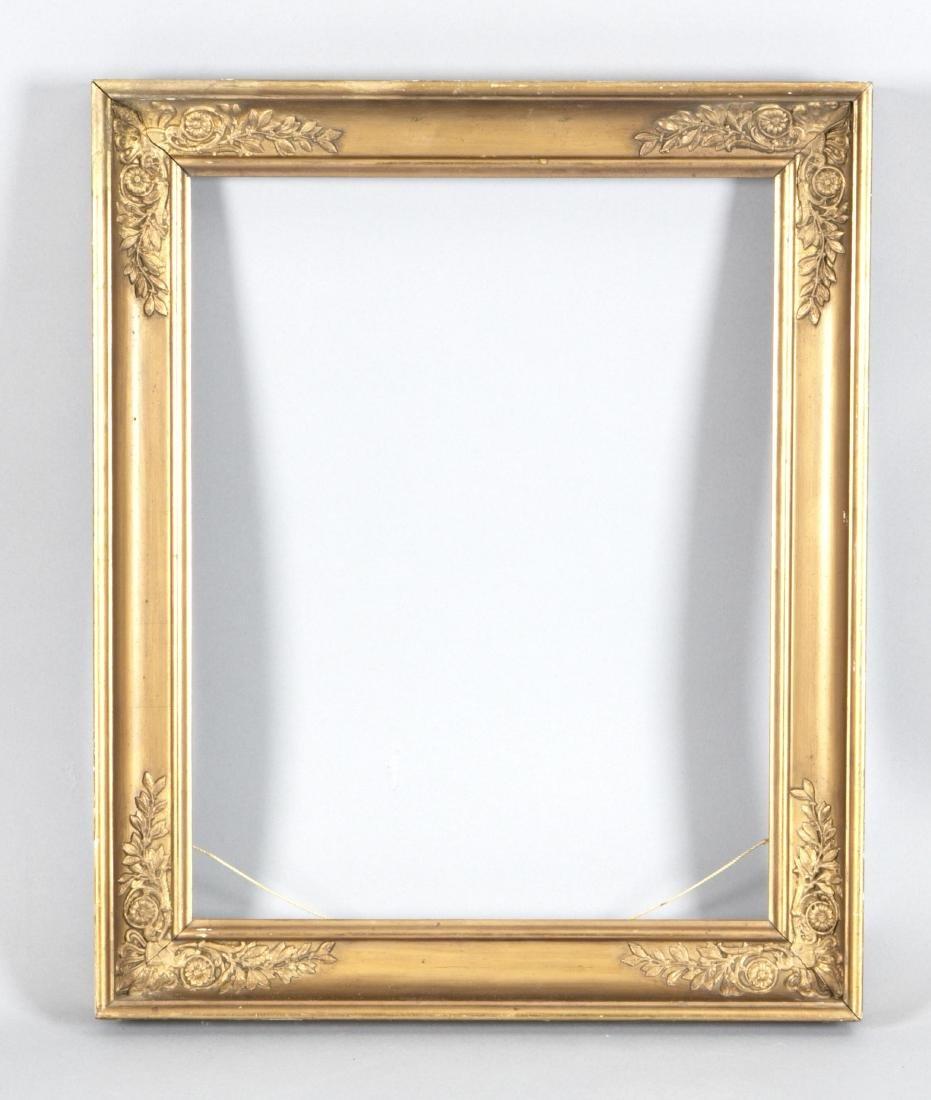 Rahmen im Empirestil, 19. Jh., goldbronziert, 46,5 x