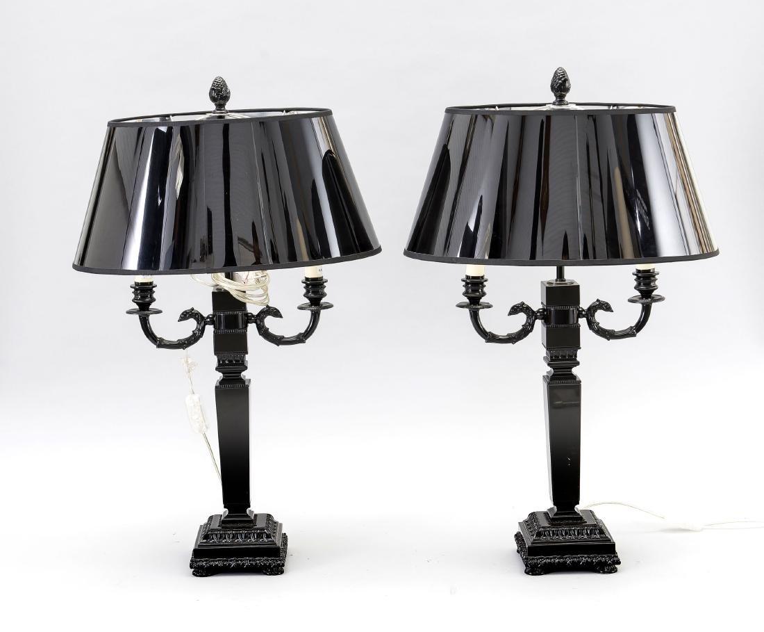 Paar Tischlampen im Versace-Stil, 2. H. 20. Jh.,