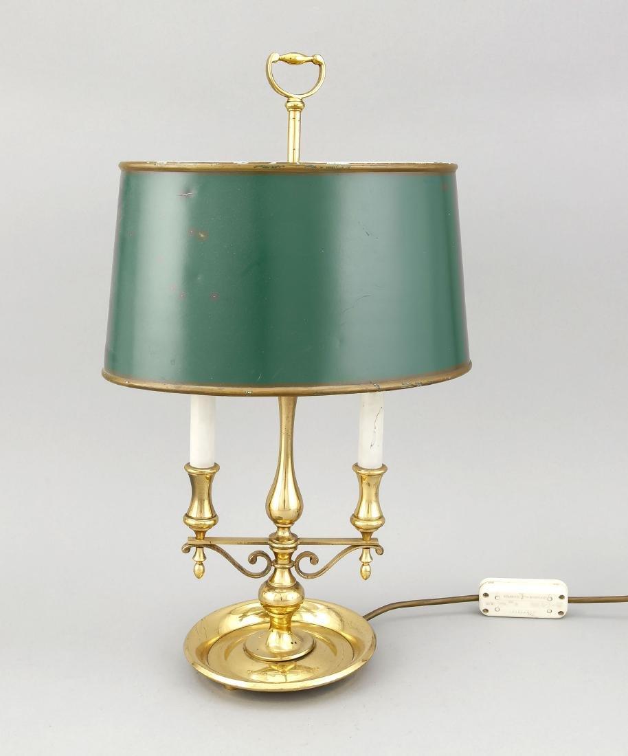 Tischlampe (elektrifizierte Öllampe?),