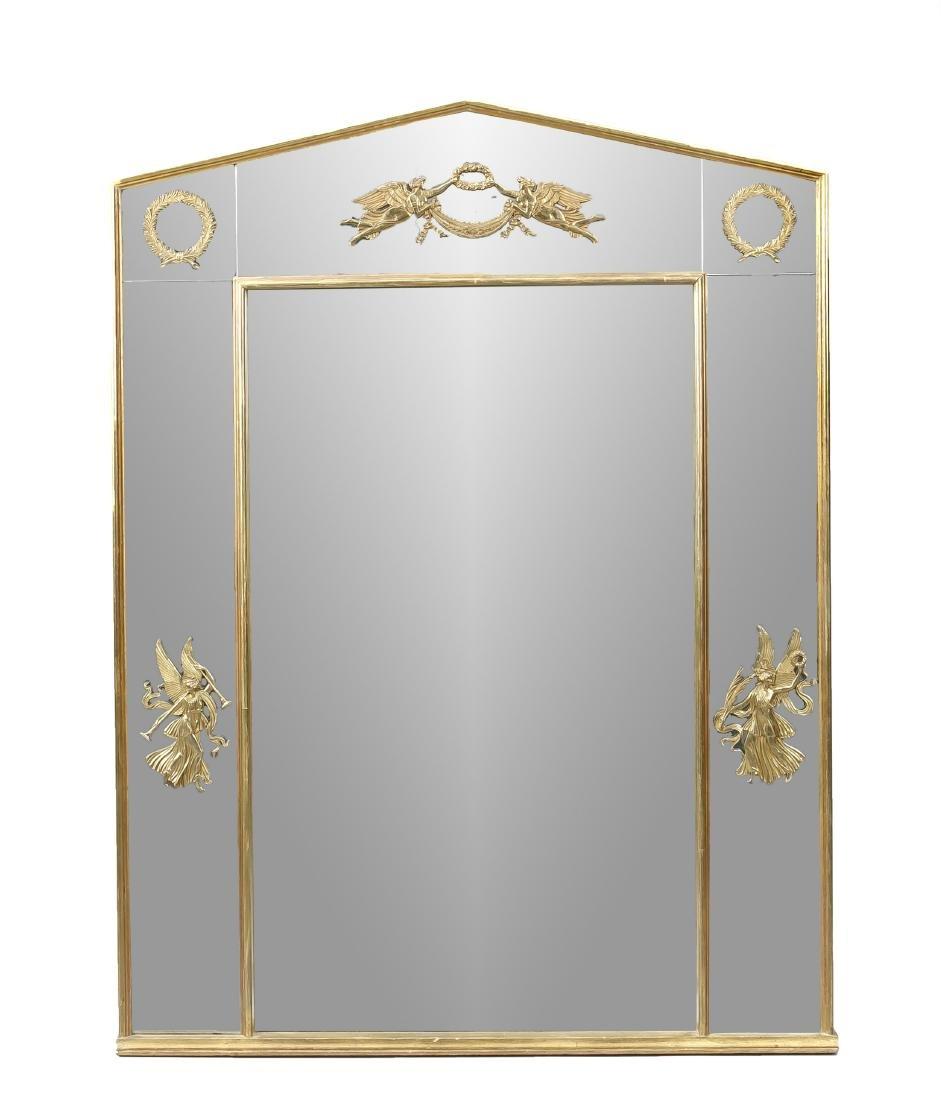 Wandspiegel im Empirestil, 2. H. 20. Jh., verspiegelte