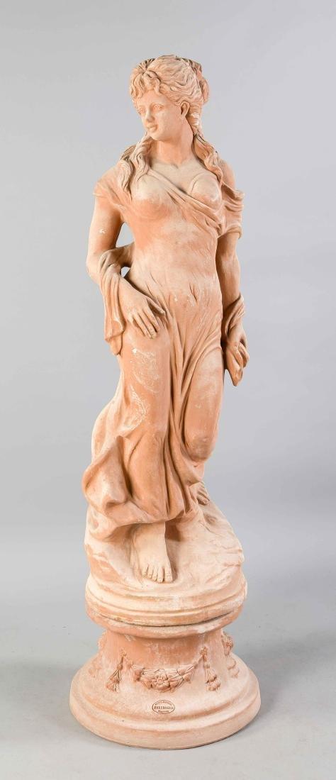 Female figure on round postament, Montecchio, Florenz,