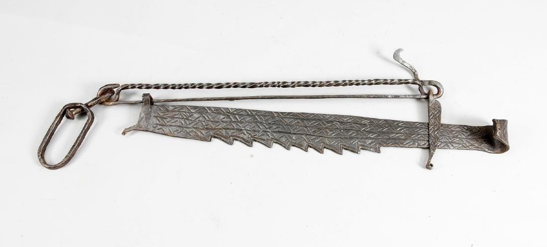 Kaminsäge, 18. Jh., Schmiedeeisen, L. 95 cm   German: