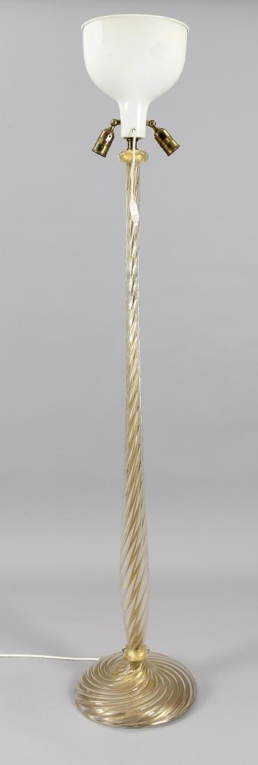 Murano Standlampe um 1970, elektr., 3-flg.,