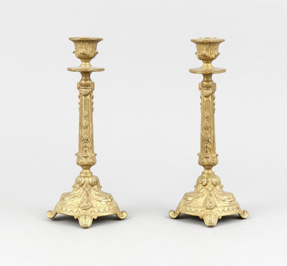 Paar Tischleuchter im Stil des 18. Jh., 20. Jh.,