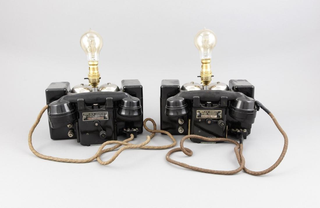 Paar Telefonlampen, England 1. Hälfte 20. Jh., zwei