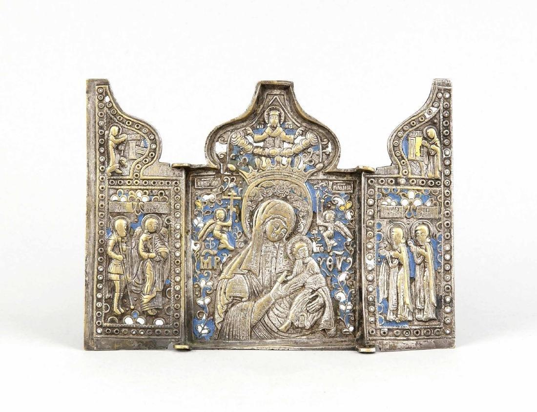 Metallikone/Reiseikone, Russland, 18. Jh., Triptychon