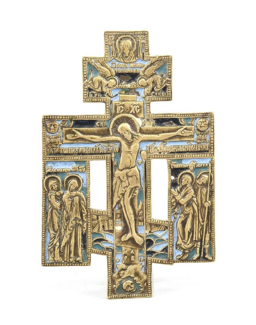 Orthodoxes Hauskreuz, Russland, 19 Jh., die zwei die