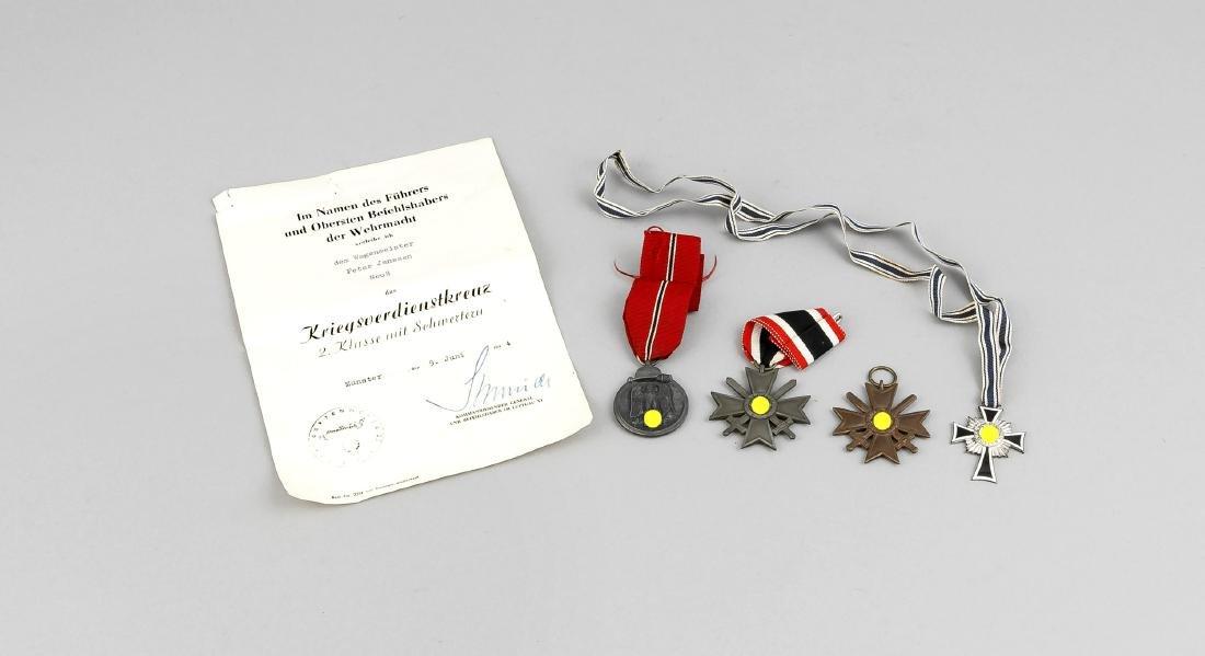two Kriegsverdienstorden (one with certificate), mother