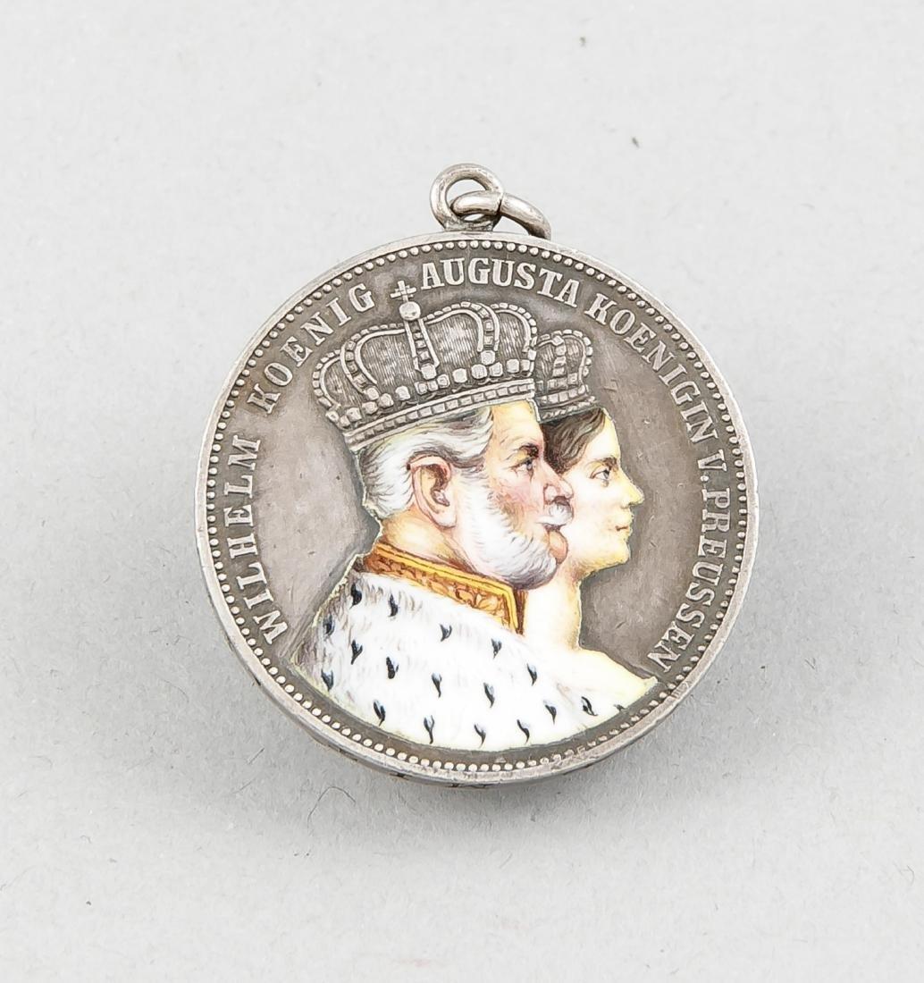 Silber-Münzanhänger, Krönungstaler des preußischen