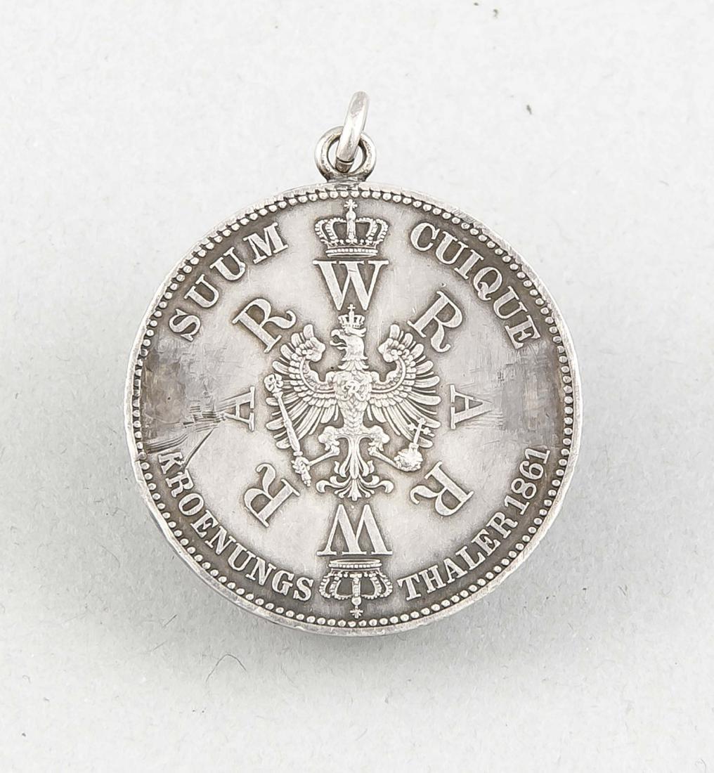 Silber-Münzanhänger, Krönungstaler des preußischen - 2