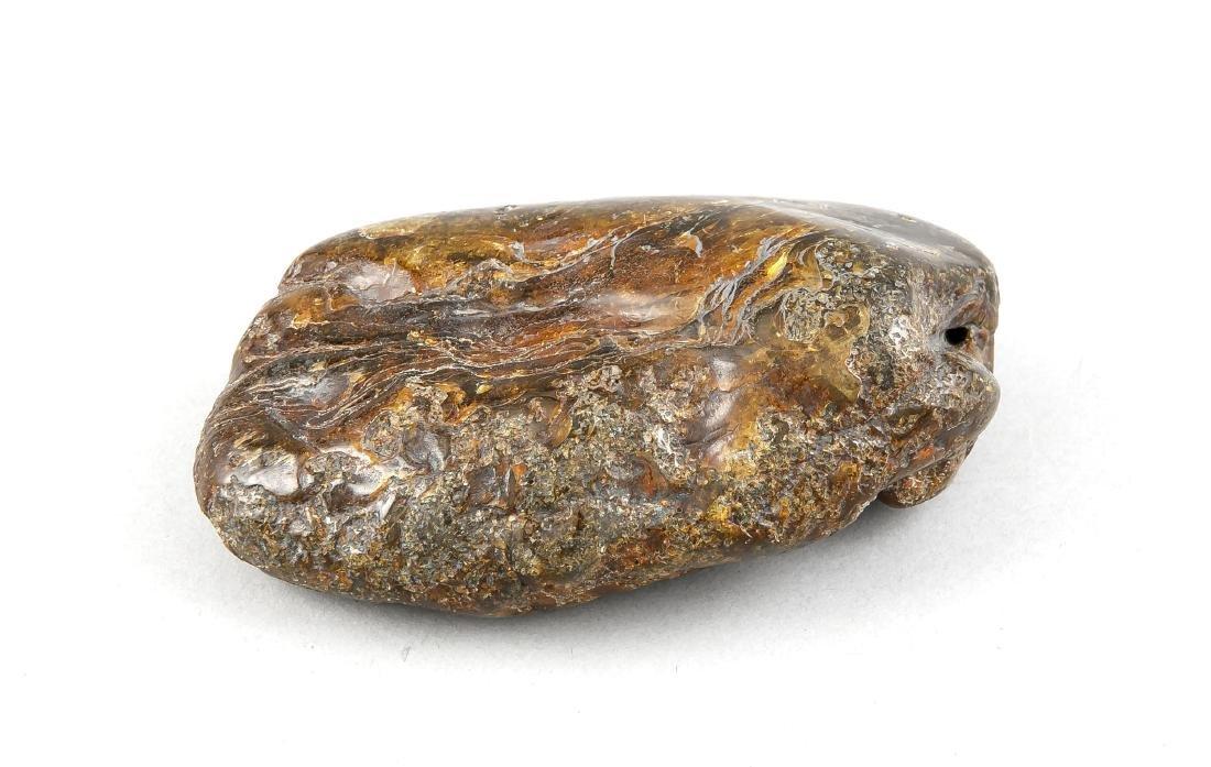 Großer Rohbernstein, durchscheinend, gelb-braun, L.