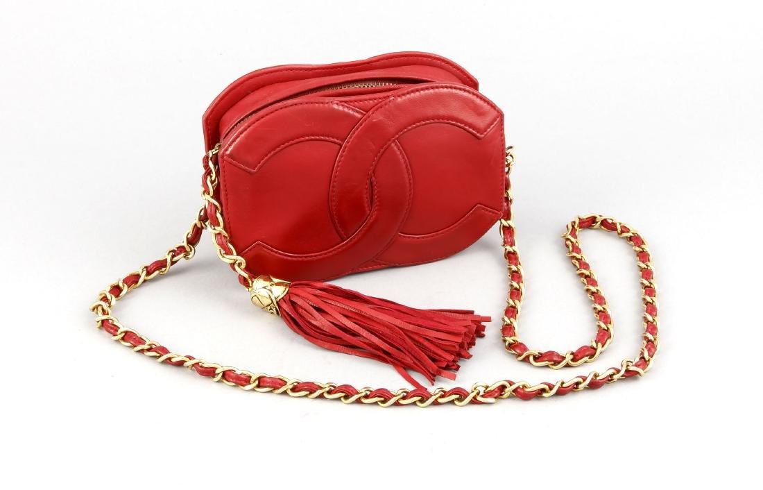 Chanel Handtäschchen, 70er Jahre, rotes Leder mit