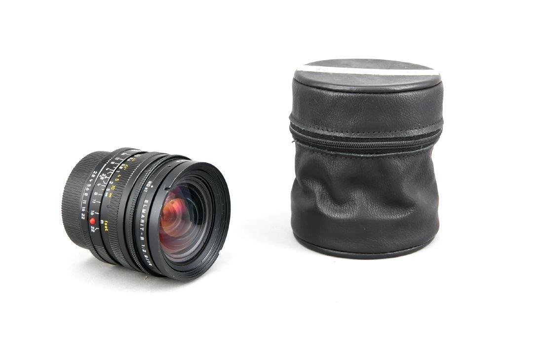 Leica Elmarit-R 1:2.8/19 A68 Objektiv, mit beiden