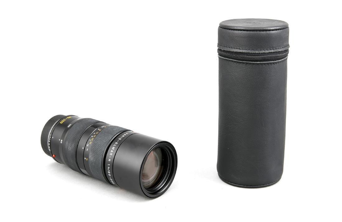 Leica Vario-Elmar-R 1:4/80-200 Objektiv, mit beiden