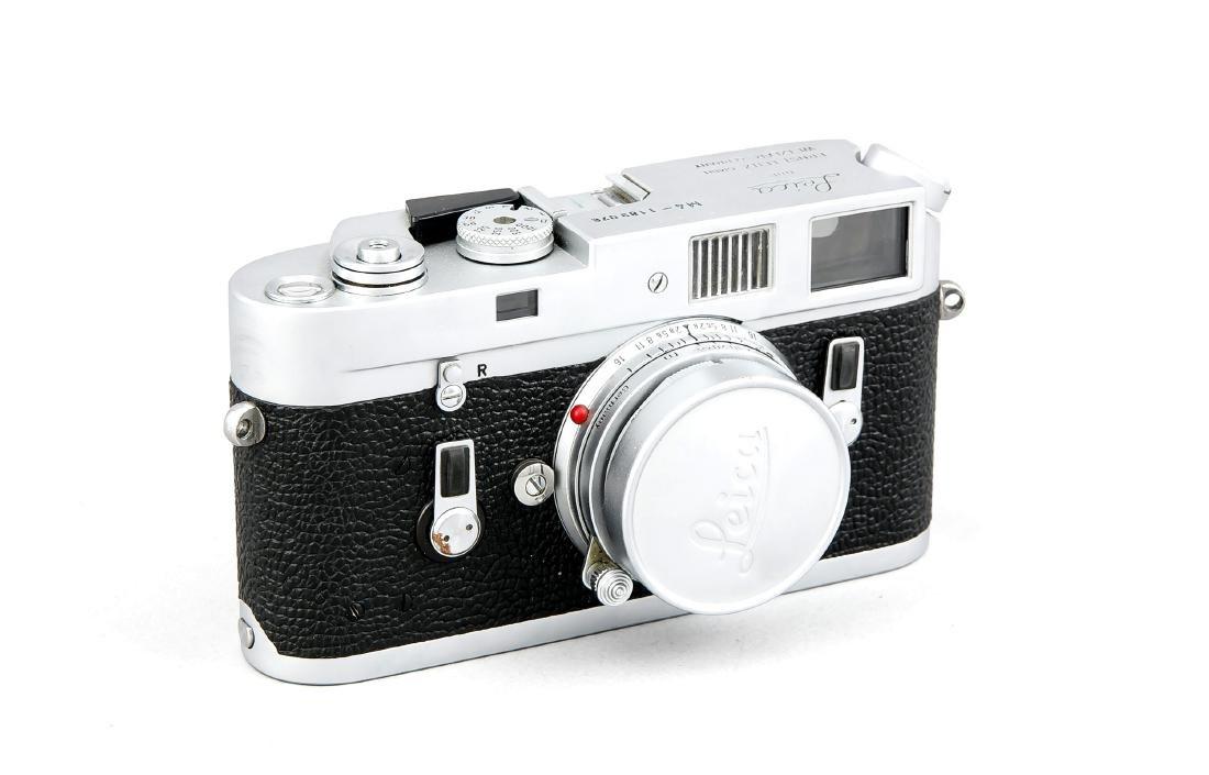 Leica M4 Kamera silberfarben, 1189076 mit Objektiv