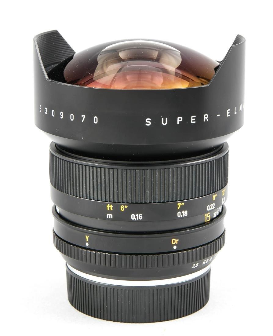 Leica super-Elmar-R 1:3.5/15 Weitwinkelobjektiv, - 2