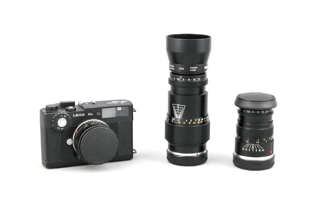 Leica CL, mit 3 Leitz-Objektiven: einmal Summicron-c