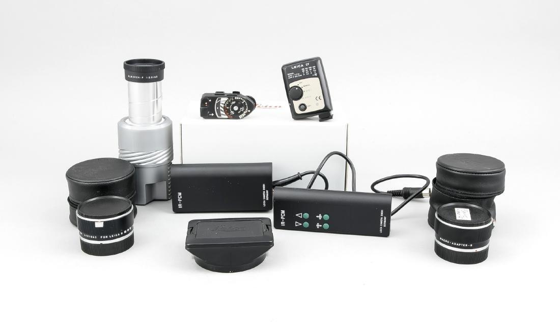 Konvolut Leica, Macro-Adapter-R, Infrarot-Fernbedienung