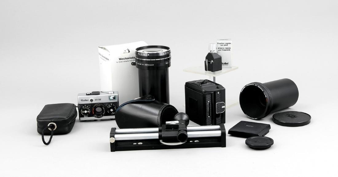 Konvolut Rollei, Kamera Rollei 35 SE, Rolleiflex