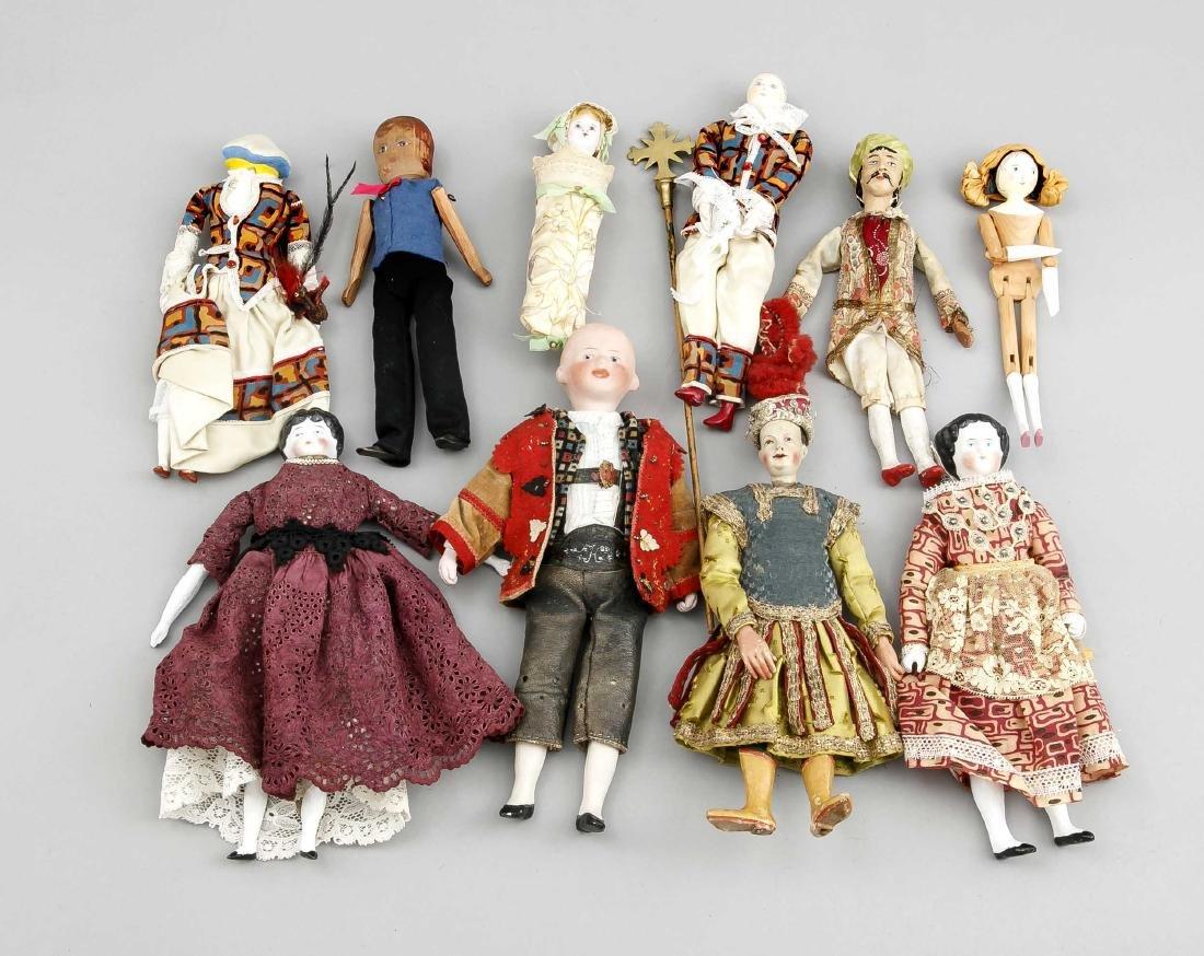 Konvolut von Figuren und Puppen, 1. H. 20. Jh.,