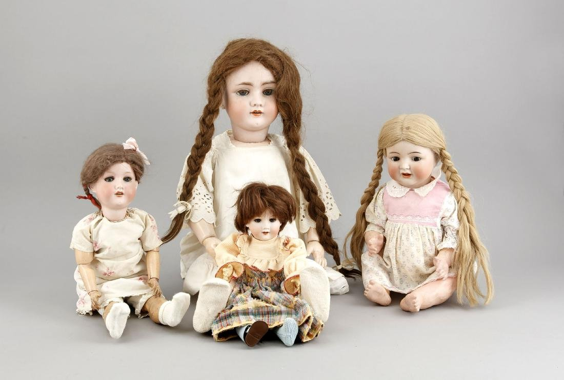Konvolut von vier Puppen, 1. H. 20. Jh., Armand