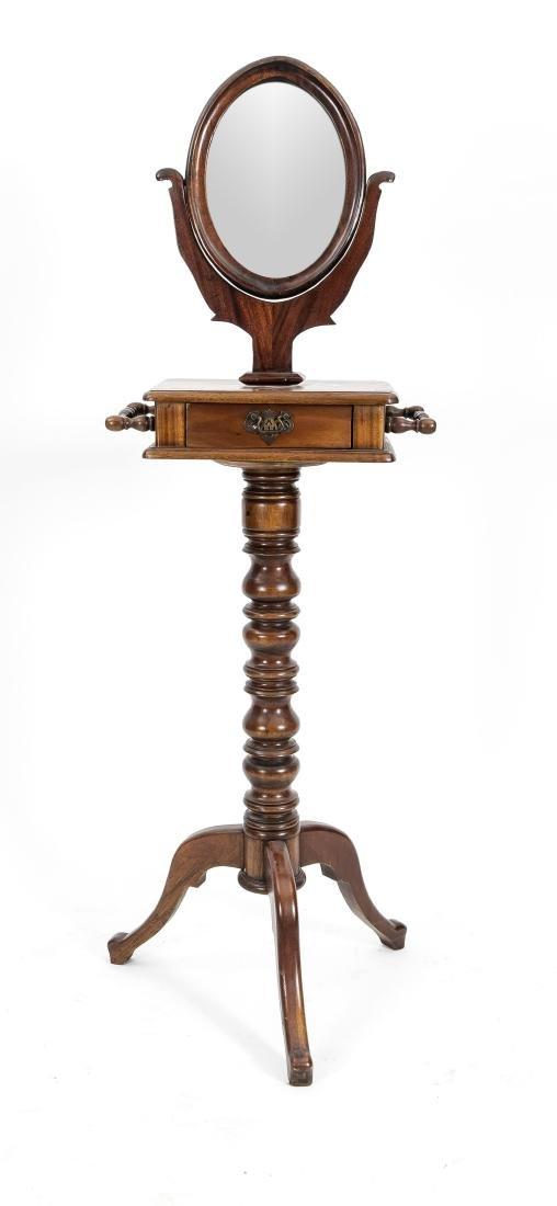 Frisierspiegel bzw. Psyche auf Säule, um 1900,