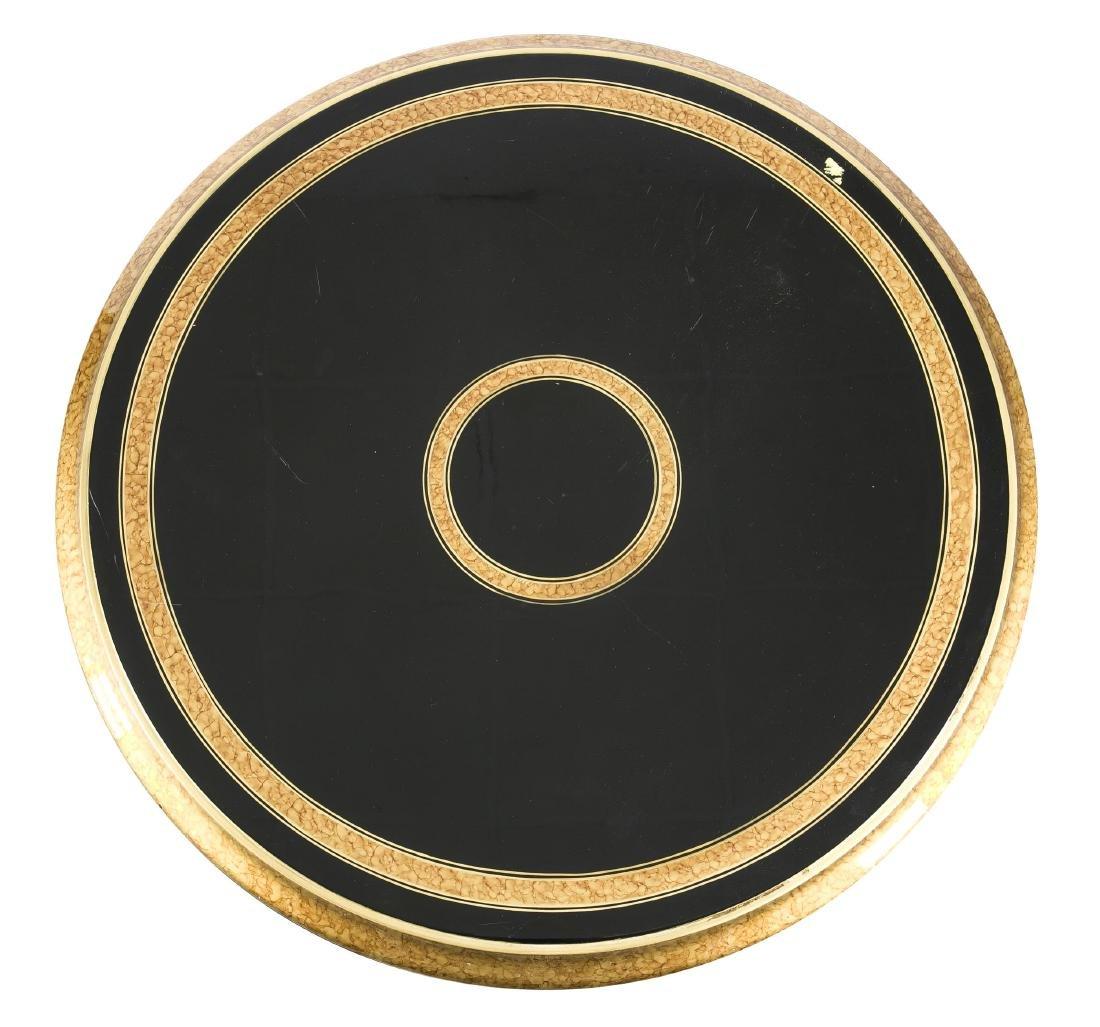 Salontisch von Versace, schwarz gelacktes Holz, Glas, - 2