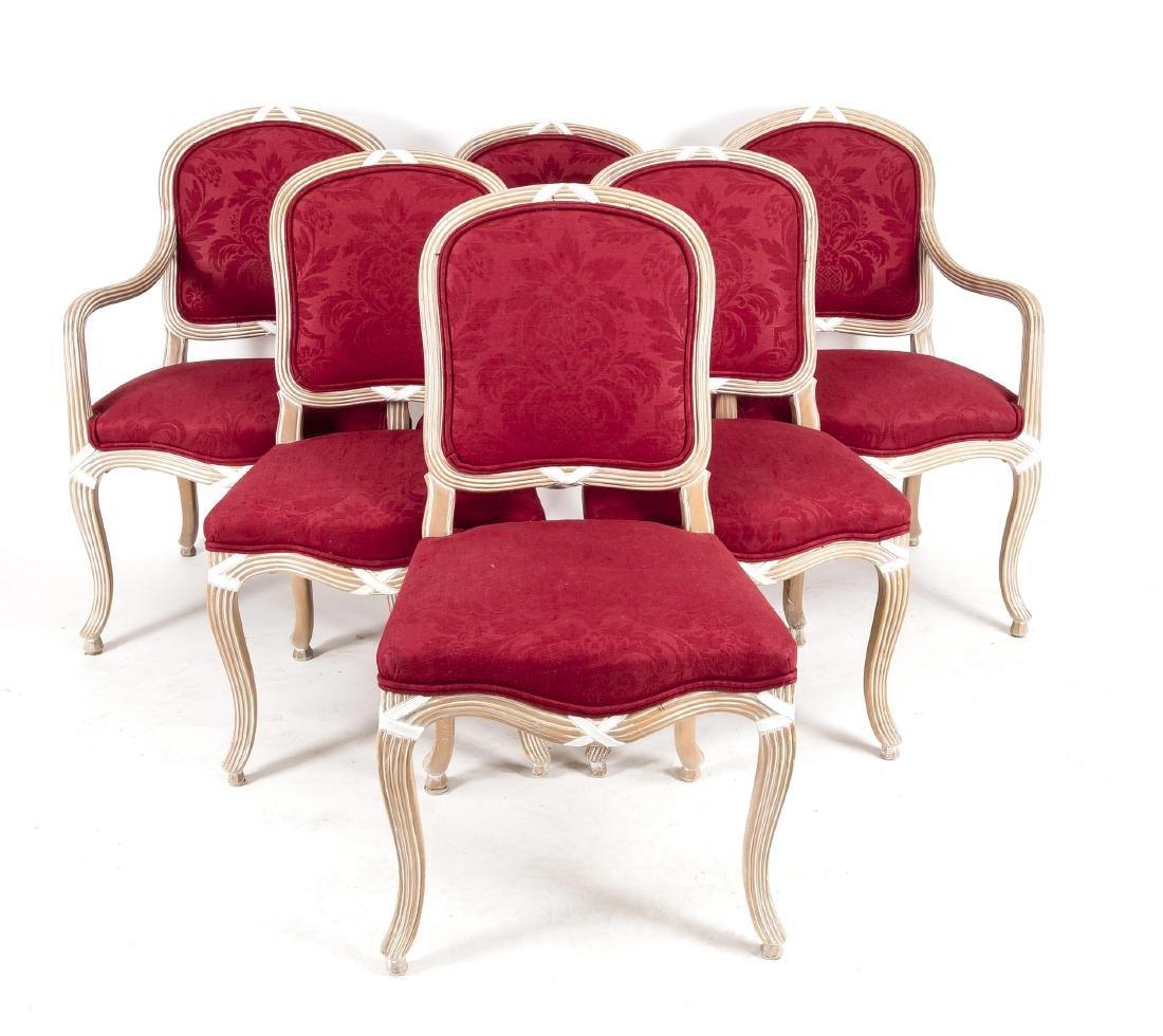6-er Satz Stühle, davon zwei mit Armlehnen, erworben