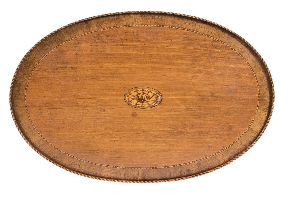 Salontisch, Mahagoni furniert, England, um 1920, ovale - 2