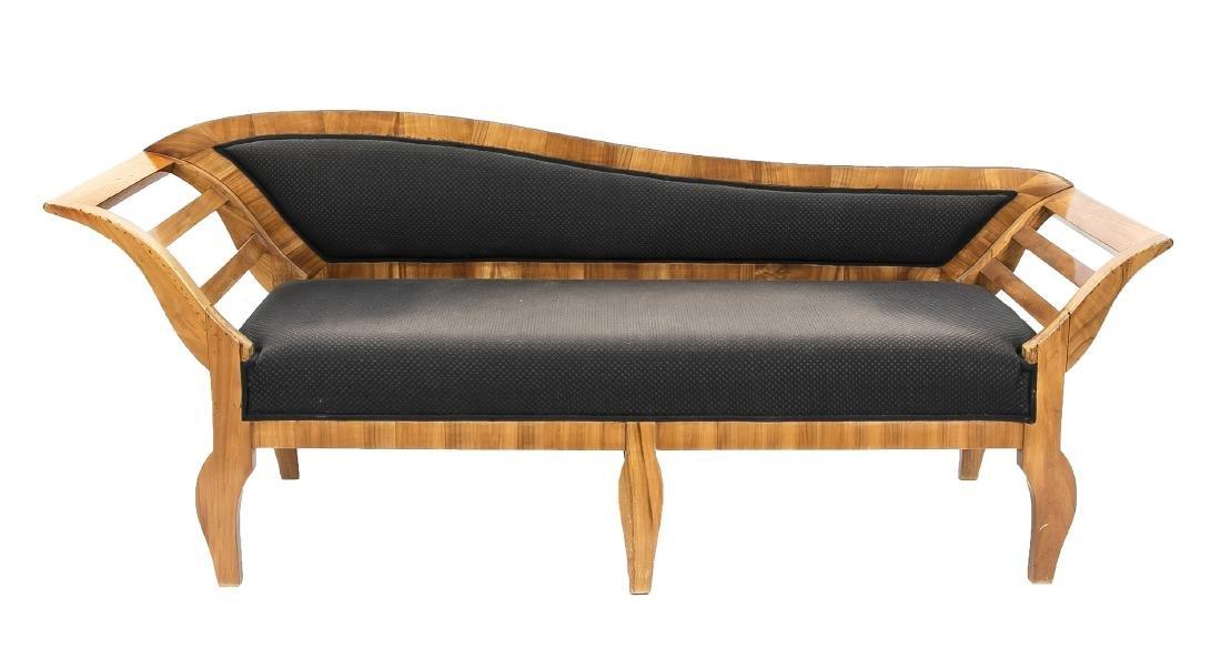 Sofa, Kirschbaum furniert und massiv, Biedermeier 19.