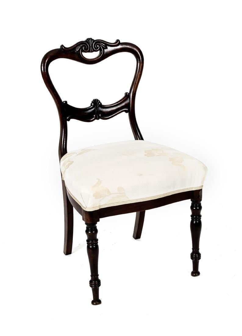 Stuhl, Mahagoni gebeizte Buche massiv, Louis Philippe,
